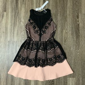 Adelyn Rae blush and black dress XS